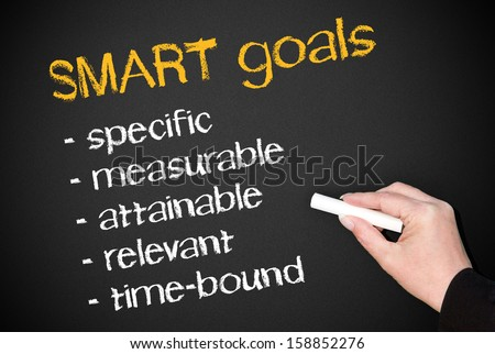 SMART goals - stock photo