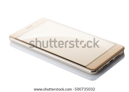 smart phone closeup isolated on white background