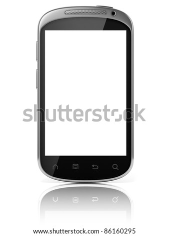 smart phone isolated - stock photo