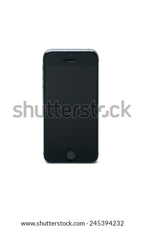 smart phone. Isolated on white - stock photo