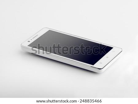 Smart Phone Isolated On White  - stock photo