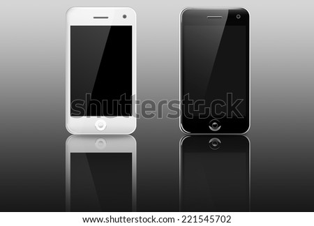 Smart phone (mobile phone) isolated on white background