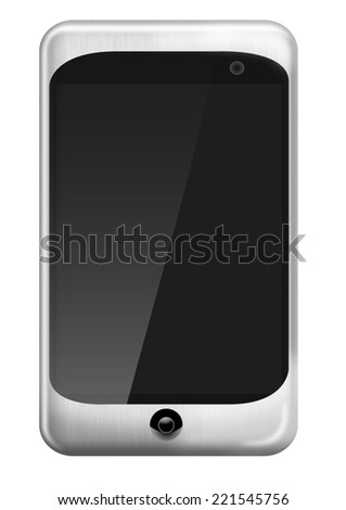 Smart phone (mobile phone) or palmtop (PDA) isolated on white background - stock photo