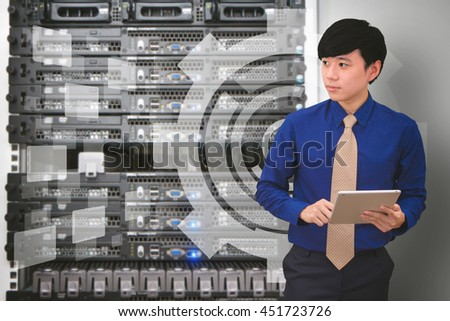Smart programmer and Business man - stock photo