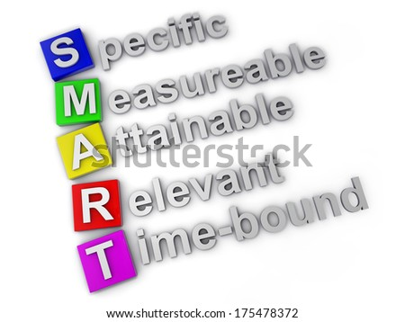 Smart specific measureable attainable relevant time-bound - stock photo