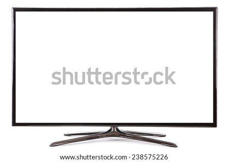 Smart tv led  monitor isolated on white background - stock photo