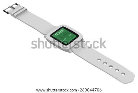 Smart watch isolated on white - stock photo