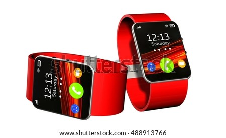 smart watch isolated on white background - 3d rendering