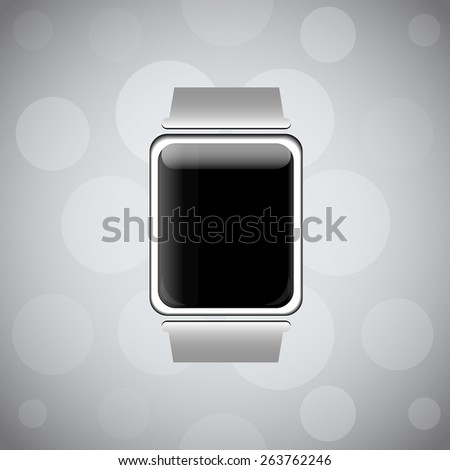 Smart watch wearable device with empty screen, great for your design - stock photo