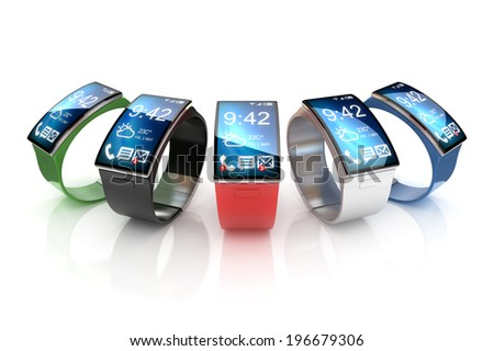 smart watches 3d illustration  - stock photo