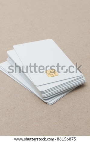 smartchip security card with electronic chip inserted into card blank - stock photo