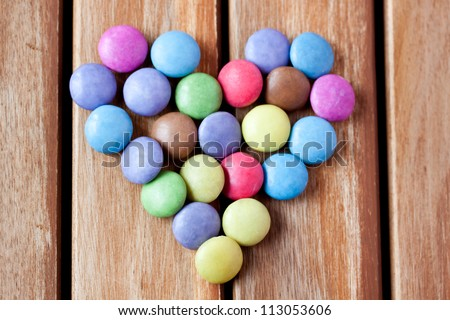 Smarties Candy Stock Photo