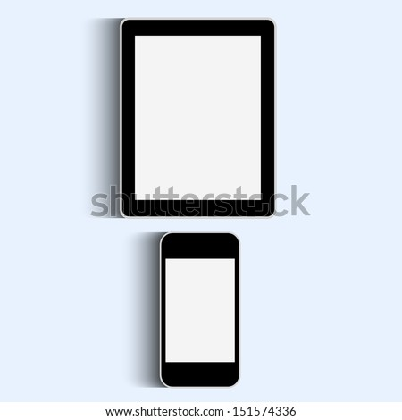 Smartphone and Tablet.Raster version - stock photo