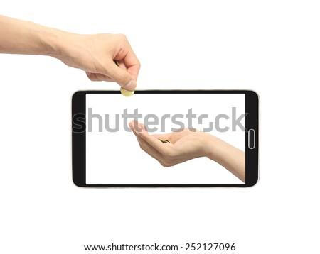 smartphone business - stock photo