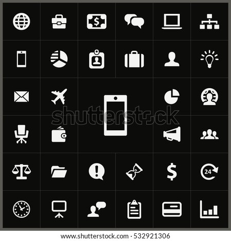 smartphone icon. Business icons universal set for web and mobile