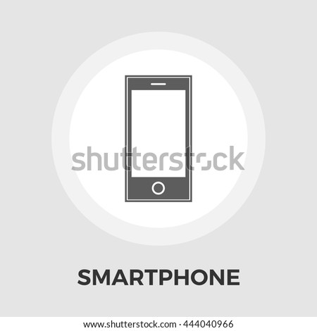 Smartphone icon. Isolated on the white background.  - stock photo