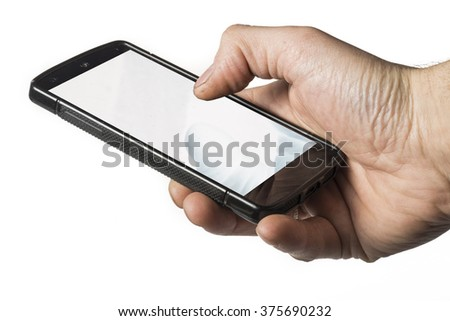smartphone in one hand