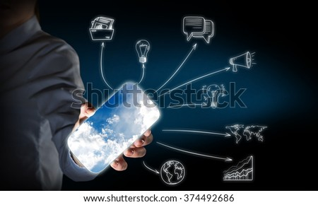 Smartphone interface application - stock photo