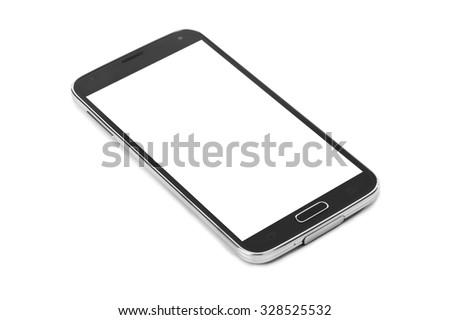 Smartphone isolated on white background - stock photo