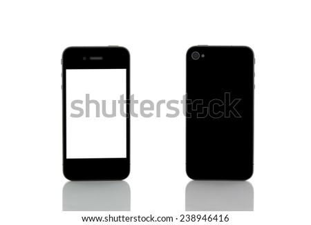 smartphone on white background - stock photo