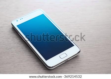 Smartphone turned off - studio shot - stock photo