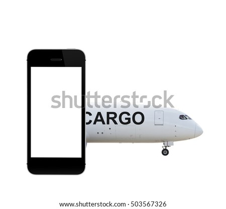 Smartphone with cargo airplane