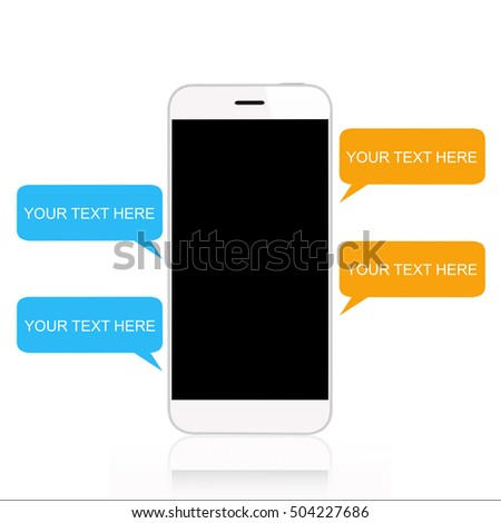 Smartphone with chat template
