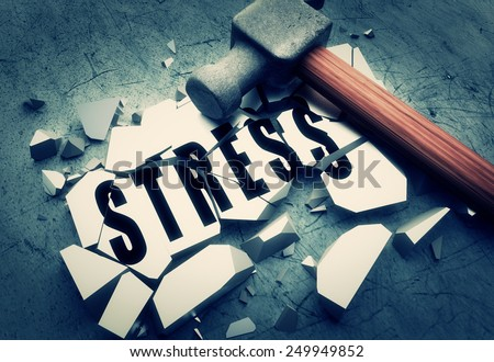Smashing stress - stock photo