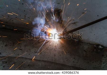 SMAW a?? shielded metal arc welding and welding fumes.