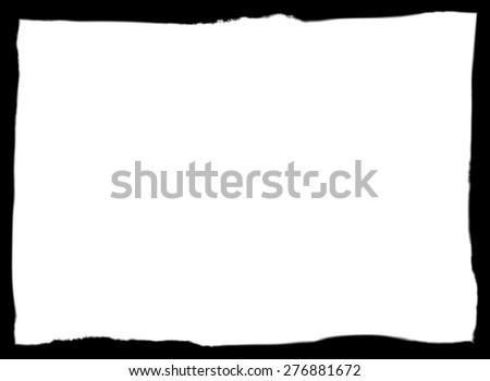 Smear black frame - stock photo