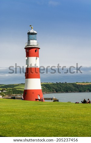 Smeaton's Tower in Plymouth, UK