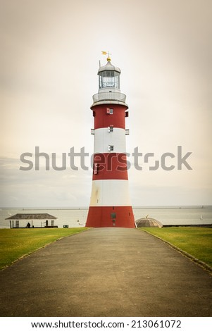 Smeaton's Tower in Plymouth, UK - stock photo