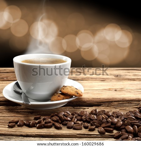 smell of xmas coffee  - stock photo