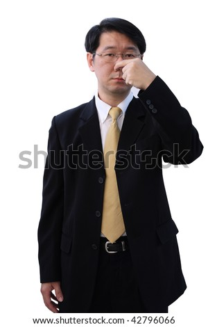 smell something wrong - stock photo