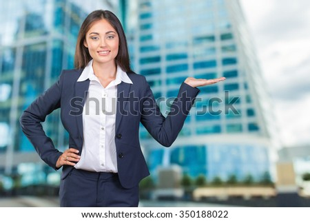 Smile Business woman show fingers