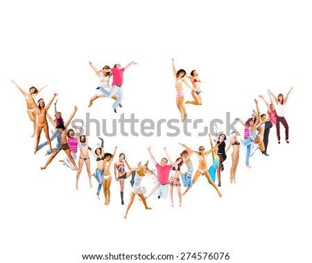 Smile Sign Smiley People  - stock photo