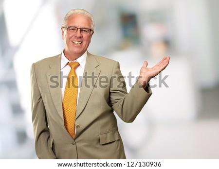 Smiley Businessman, Indoor - stock photo
