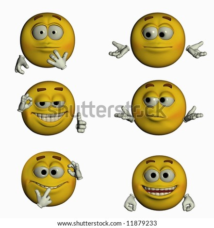 Smiley emotion yellow face illustration - stock photo
