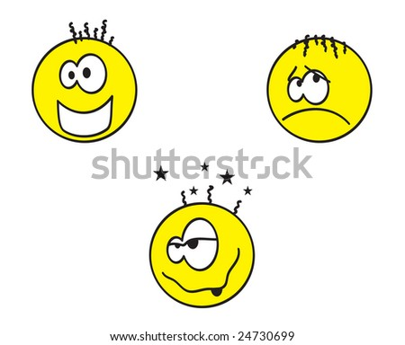 smiley faces, emoticons - stock photo