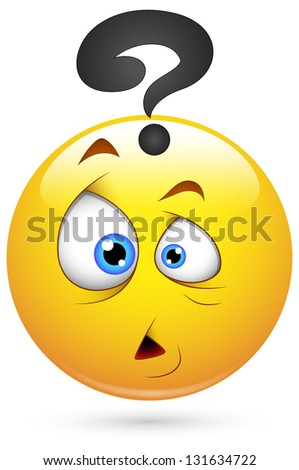 Smiley Illustration - Puzzled Face - stock photo