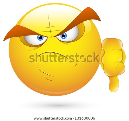 Smiley Illustration - Scary Face Loser - stock photo