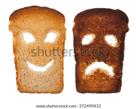 Smiley toast - stock photo