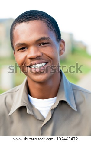 Smiling and enjoying life. - stock photo
