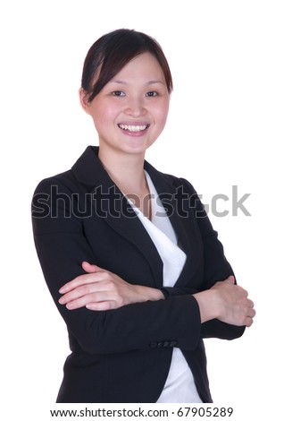 Smiling asian businesswoman - stock photo