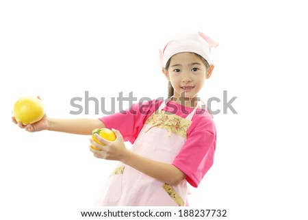 Smiling Asian girl - stock photo