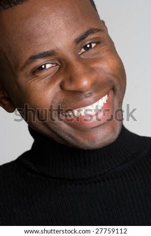 Smiling Black Man - stock photo