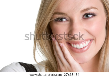 Smiling Blond Woman - stock photo