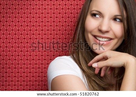 Smiling Brunette Girl - stock photo
