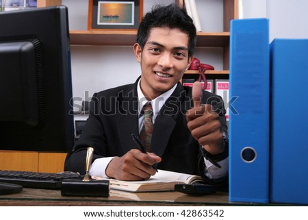 smiling business man - stock photo