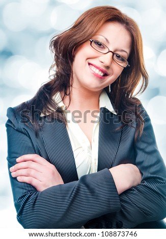 Smiling business woman. - stock photo